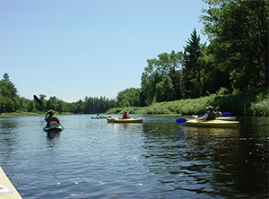 Kayakers at Katahdin Outfitters